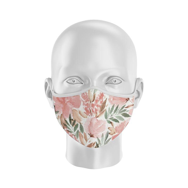 Adulto Flores - mascarilla floreada personalizada