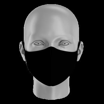 mascarilla NEGRA lisa las mascarillas personalizadas
