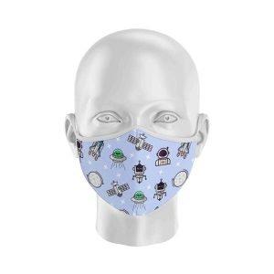 mascarilla con filtro baby marcianitos