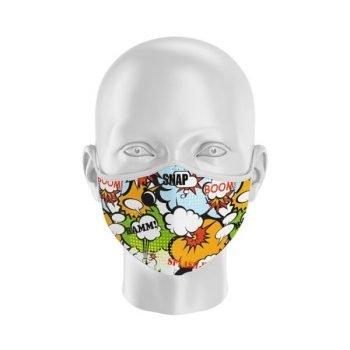 mascarilla con filtro cómic