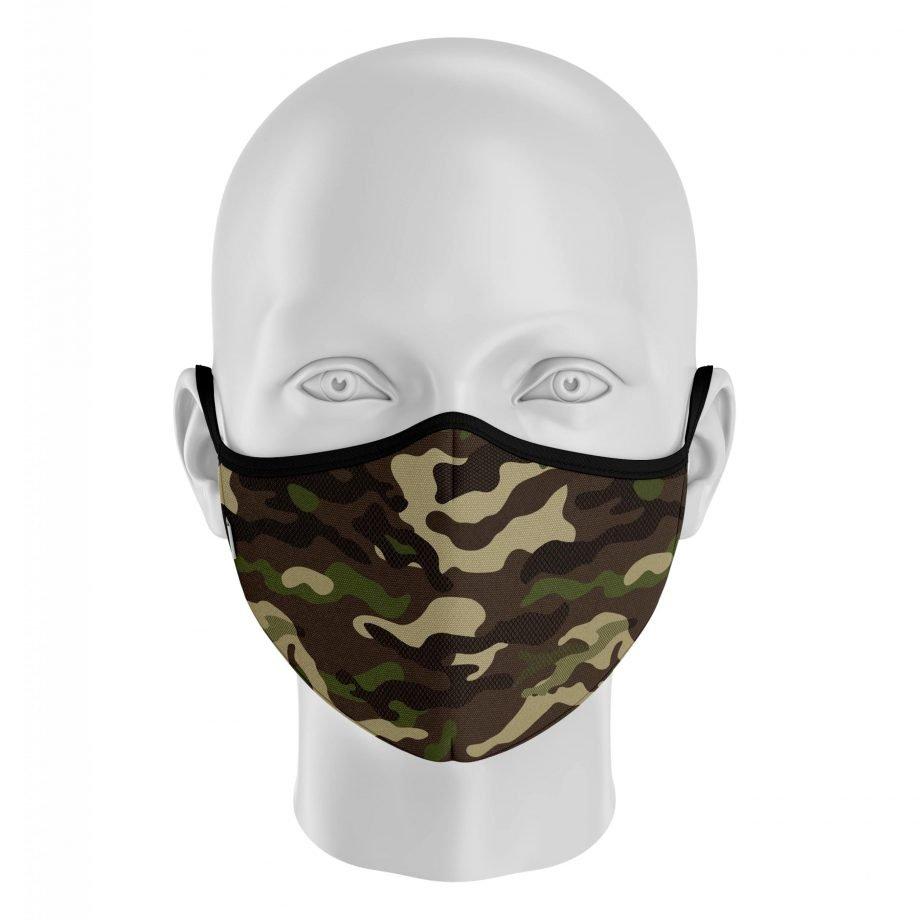 mascarilla con filtro camuflaje