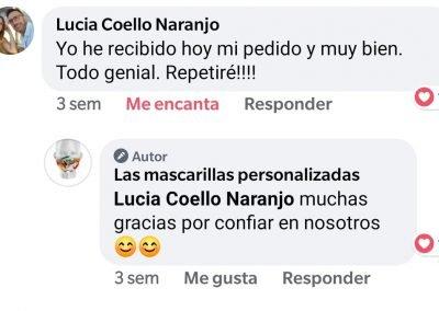 Opiniones en redes sociales de las mascarillas personalizadas .es
