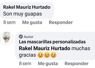 Opiniones en redes sociales de las mascarillas personalizadas .es. 5jpg
