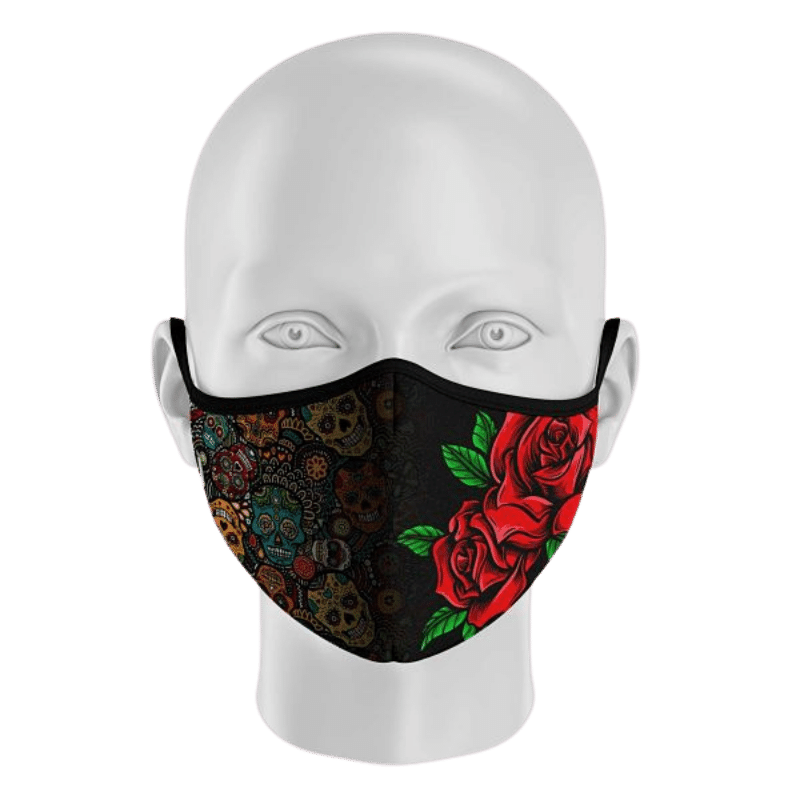 mascarilla rosas y catrinas