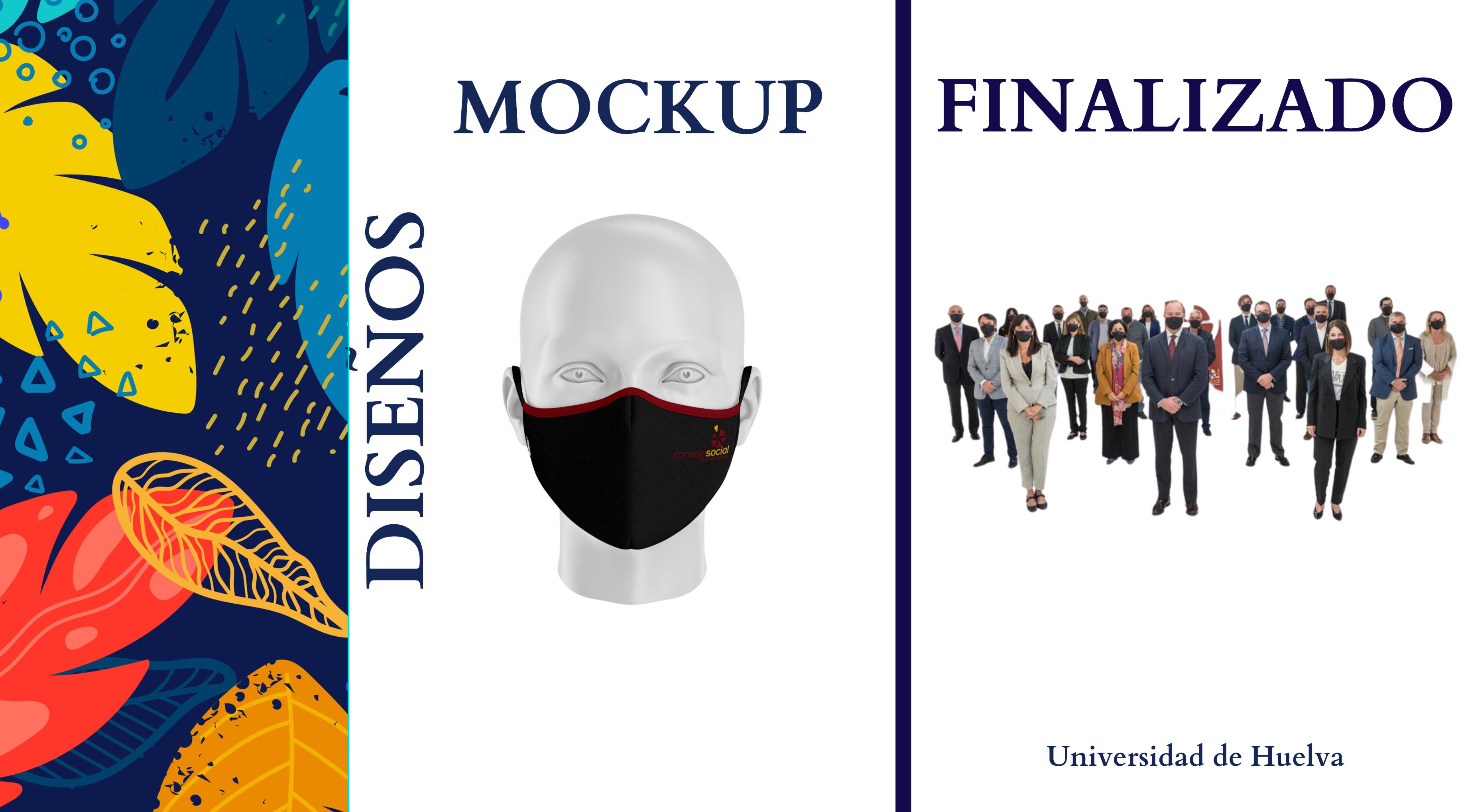 Mascarillas personalizadas empresas Universidad de Huelva